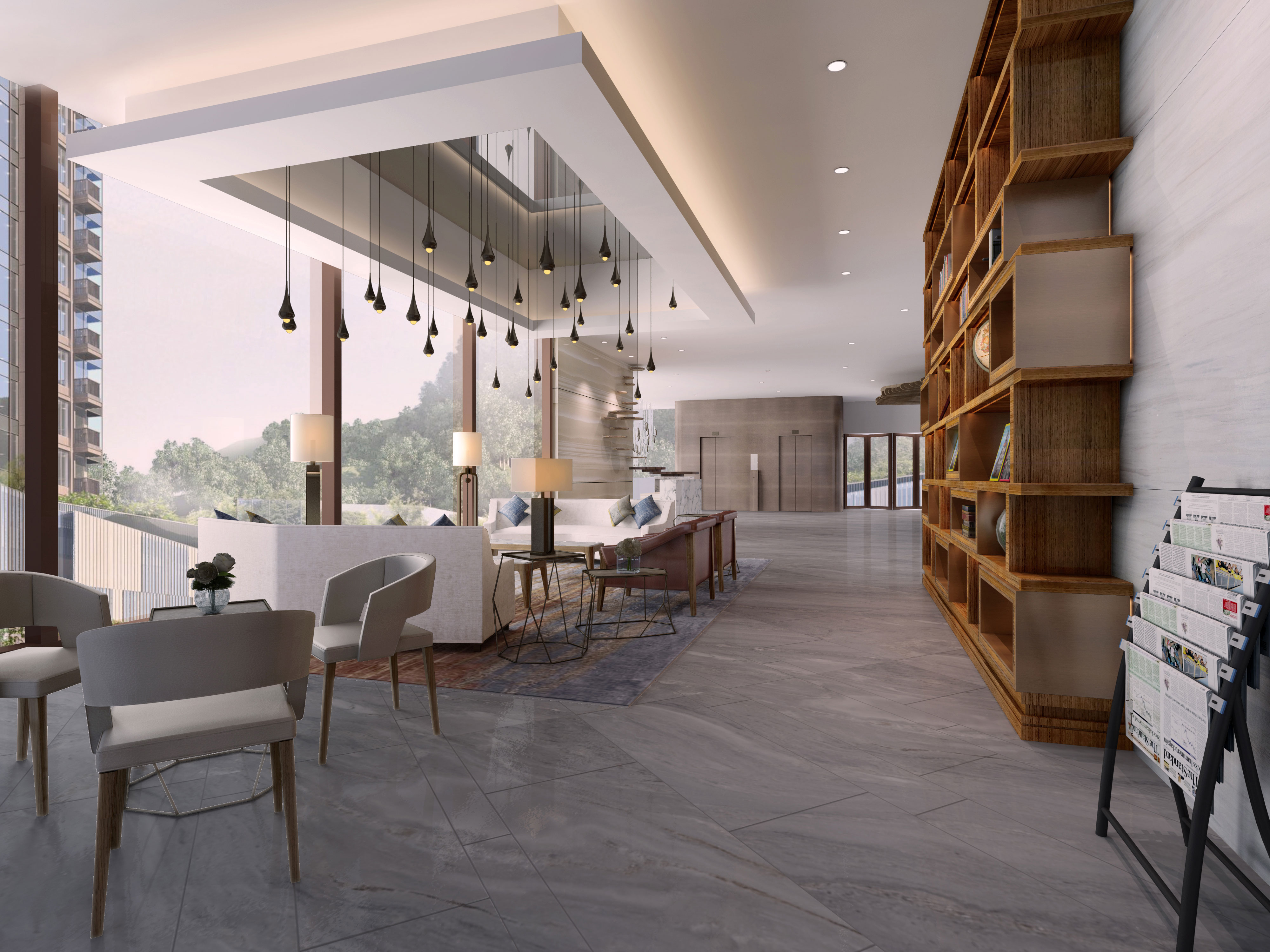 Ho man tin sheung lok street luxury clubhouse the gettys for Residential clubhouse designs