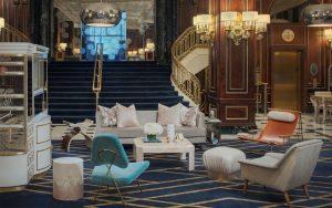The Blackstone Hotel Lobby: Timothy's Hutch